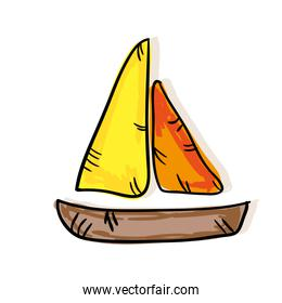 colorful sailboat background