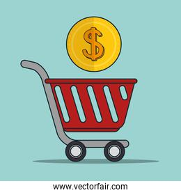 shopping and money icon