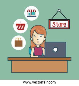 avatar woman and store commerce