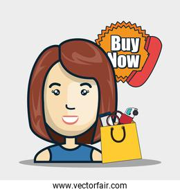 avatar woman and buy now stamp