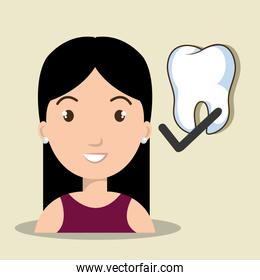 avatar woman with tooth check