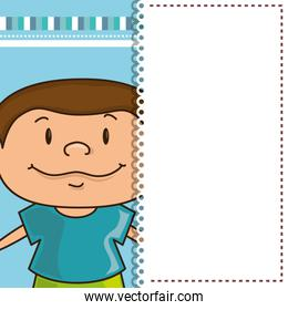 card with boy smiling