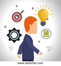 business people working design
