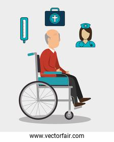 old man and healthcare design