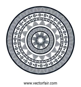 mandala circle art isolated icon