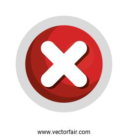 x button isolated icon