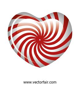 sweet heart candy isolated icon