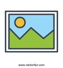 picture file isolated icon