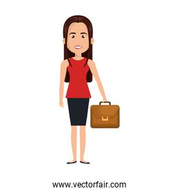 businesswoman character isolated icon