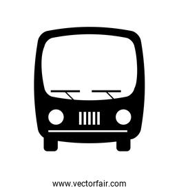 bus transport silhouette icon