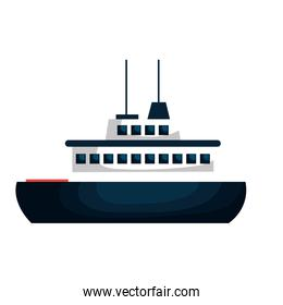 cruise ship silhouette isolated icon