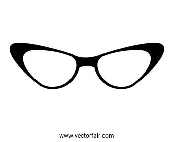 woman glasses isolated icon