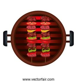 delicious barbecue grill isolated icon