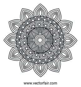 mandala art isolated icon