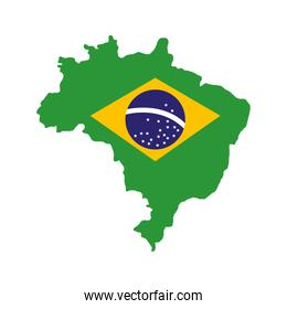 brazil map geography isolated icon