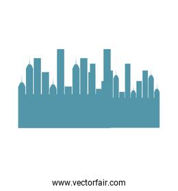 cityscape sky line isolated icon