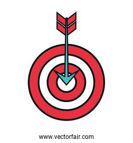 target arrow success isolated icon