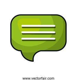 speech bubble message isolated icon