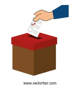 Democratic ballot box icon