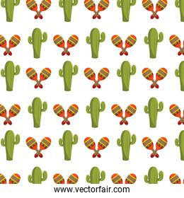 cactus and maracas pattern