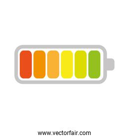 battery power level isolated icon