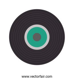 vinyl music isolated icon
