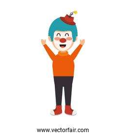 circus clown character isolated icon