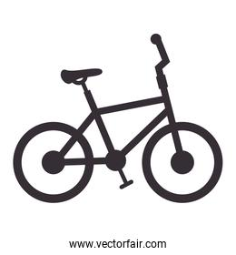 bicycle silhouette isolated icon