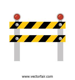 fence light construction isolated icon