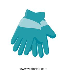 winter gloves clothes icon