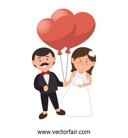 couple just married character