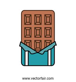 chocolate bar isolated icon