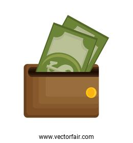 wallet money isolated icon