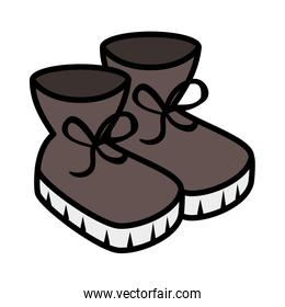 winter boots shoes icon