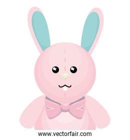 cute rabbit character isolated