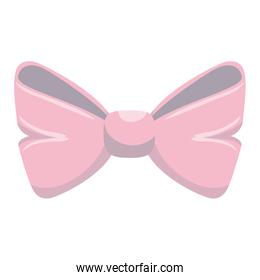 cute bown pink isolated icon