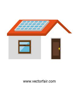 house with panel solar