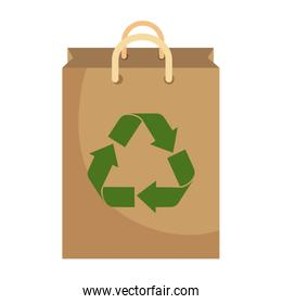 recycle shopping bag with arrows