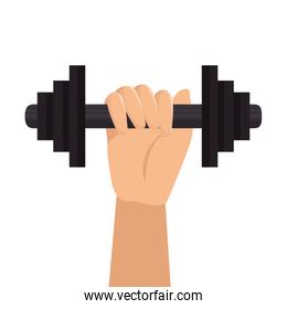 weight lifting gym isolated icon
