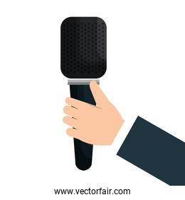 news breaking microphone icon