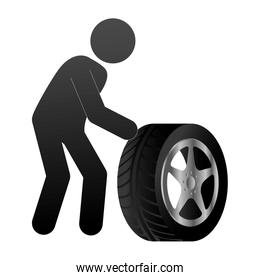 tire service isolated icon