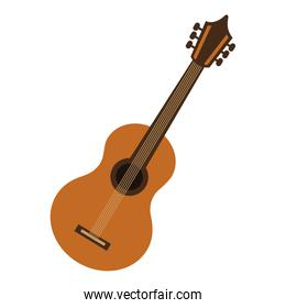 guitar acoustic isolated icon