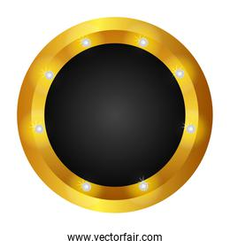 button gold isolated icon
