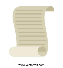 document old paper isolated icon