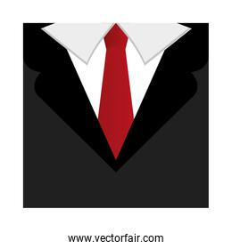 tie male fashion isolated icon