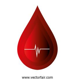 blood donation isolated icon