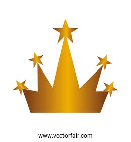 golden crown isolated icon