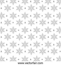 snowflakes pattern christmas background