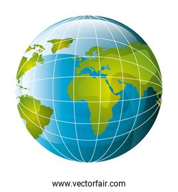 world planet earth map