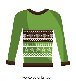 winter sweater clothes isolated icon